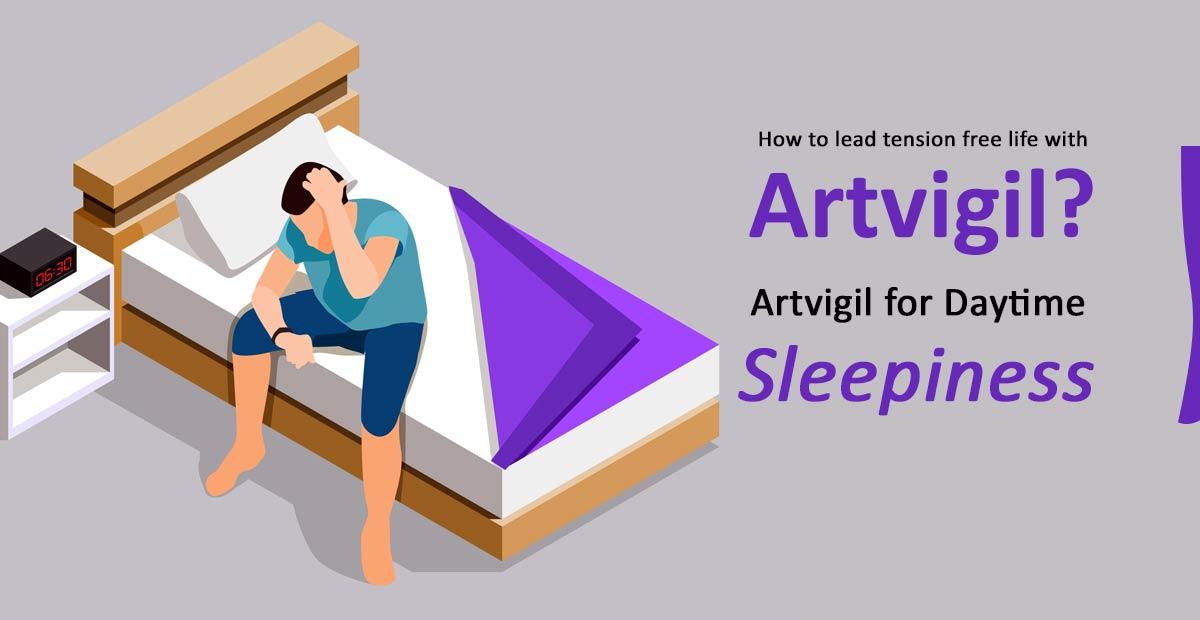 Artvigil for daytime sleepiness